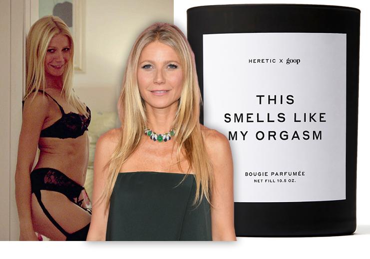 """Krásná Gwyneth Paltrow se nebojí provokace a tak prodává """"lechtivé"""" svíčky"""