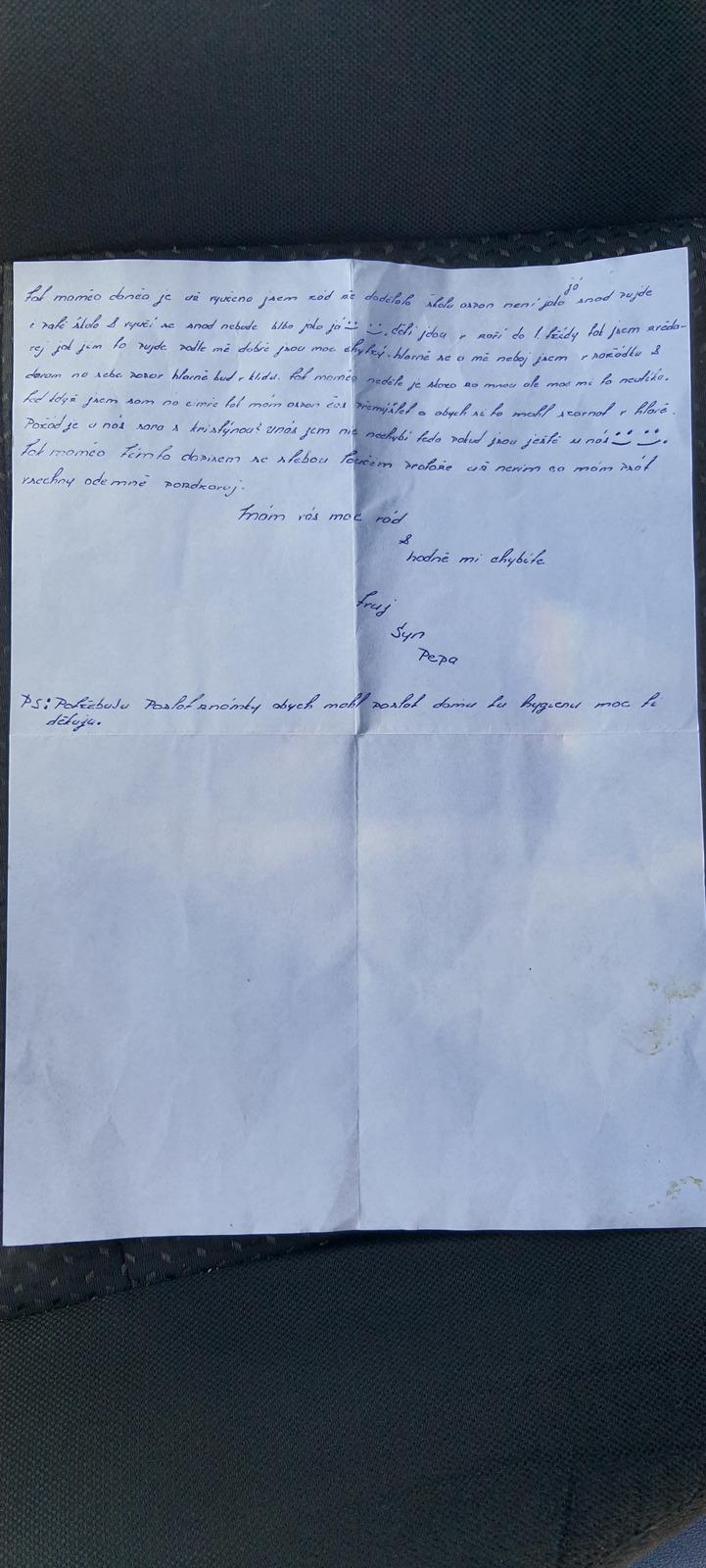 Dopis z vězení