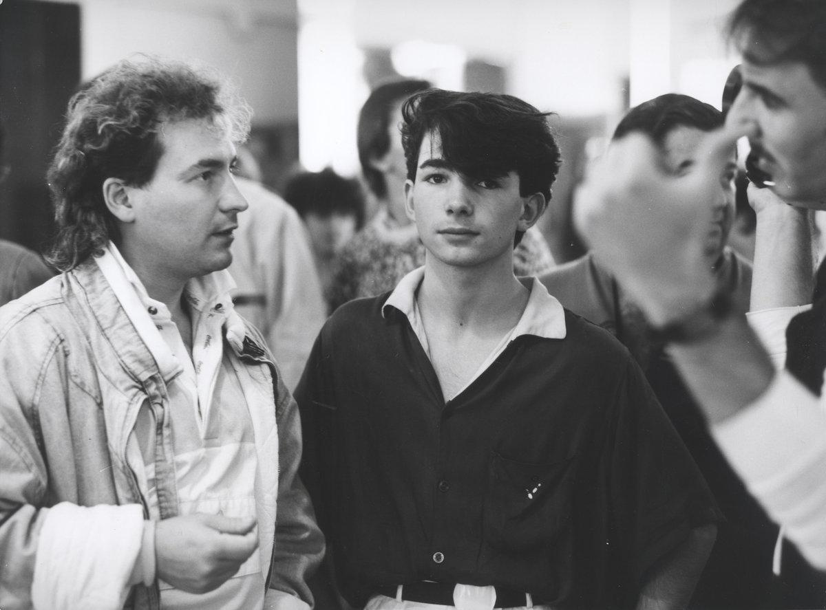 1986 - S Rudolfem Hrušínským nejml. během natáčení Discopříběhu.