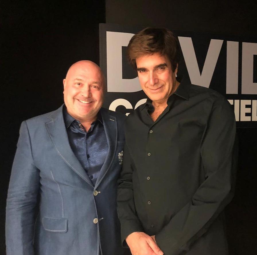Michal David s iluzionistou Davidem Copperfieldem.