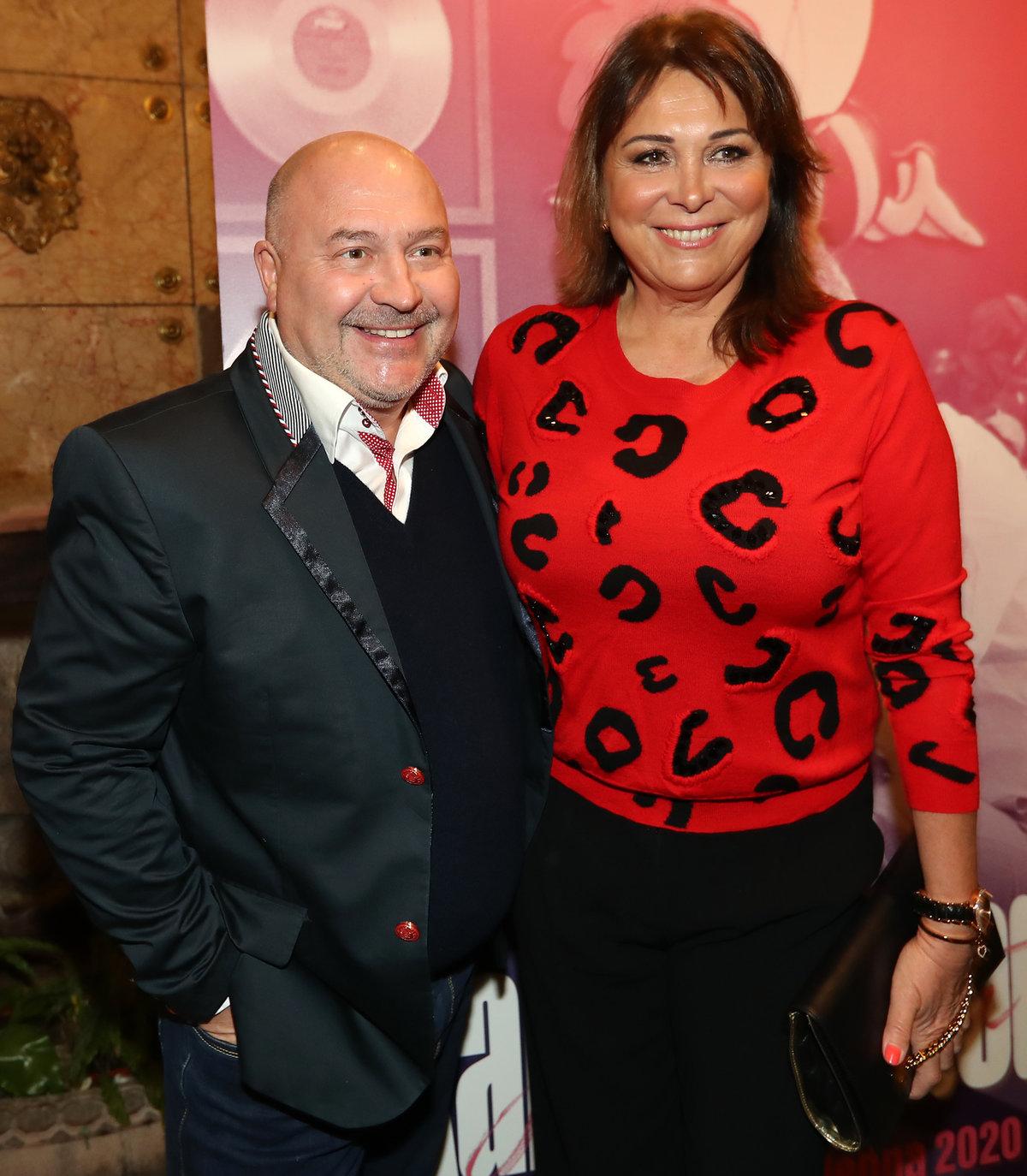 Michal David s manželkou