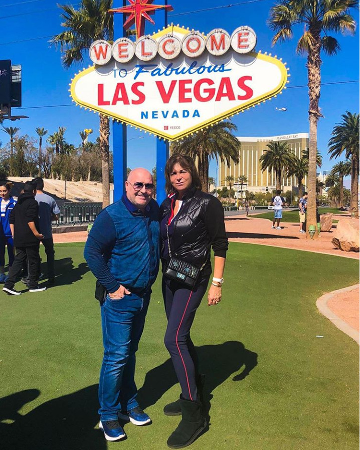 Michal David na výletě v Las Vegas