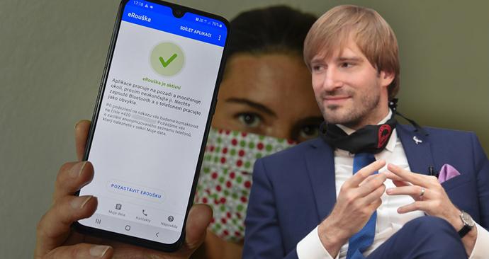 Od září by měla fungovat nová verze aplikace eRouška, říká Vojtěch