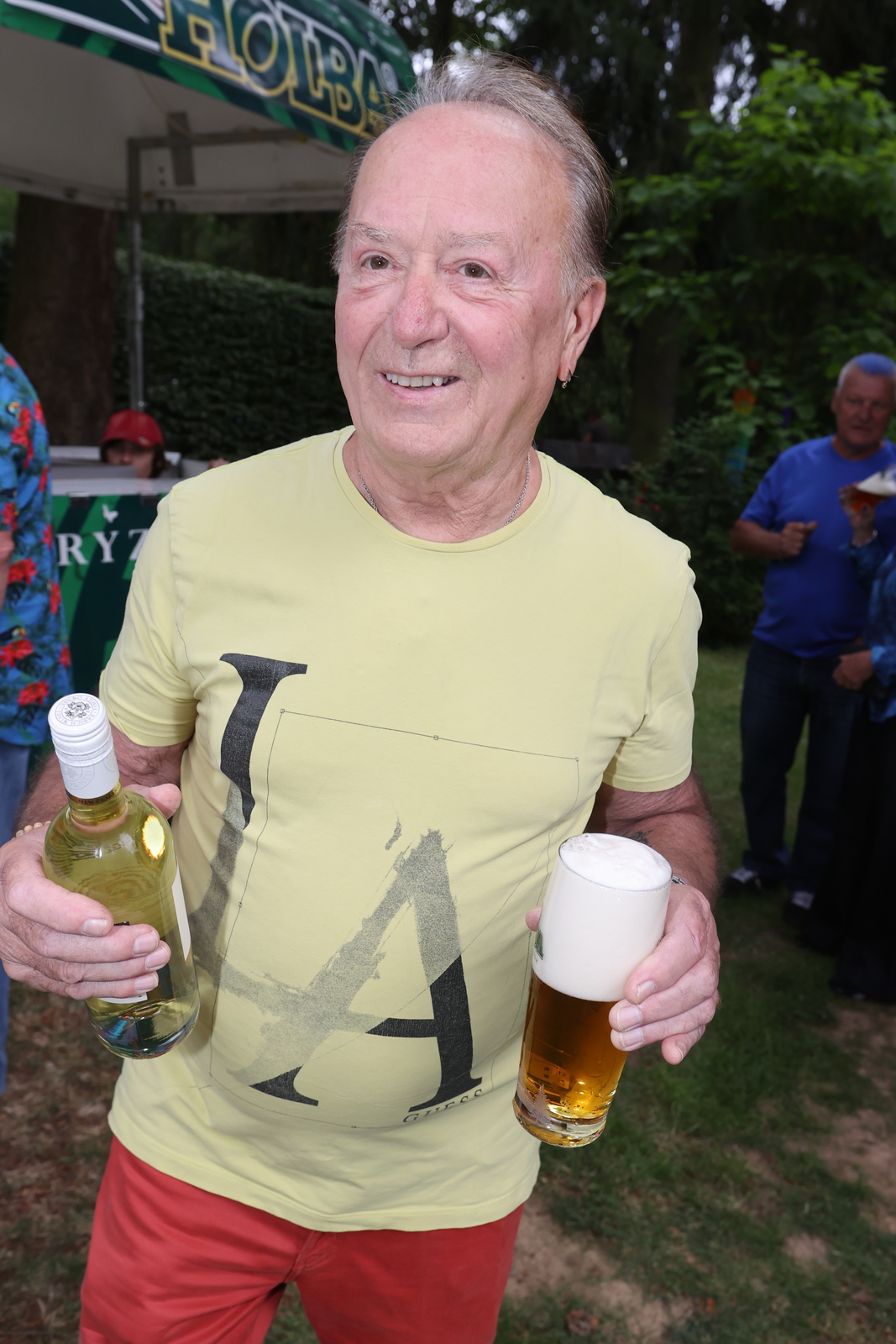 Petr Janda na oslavě svých 78. narozenin.