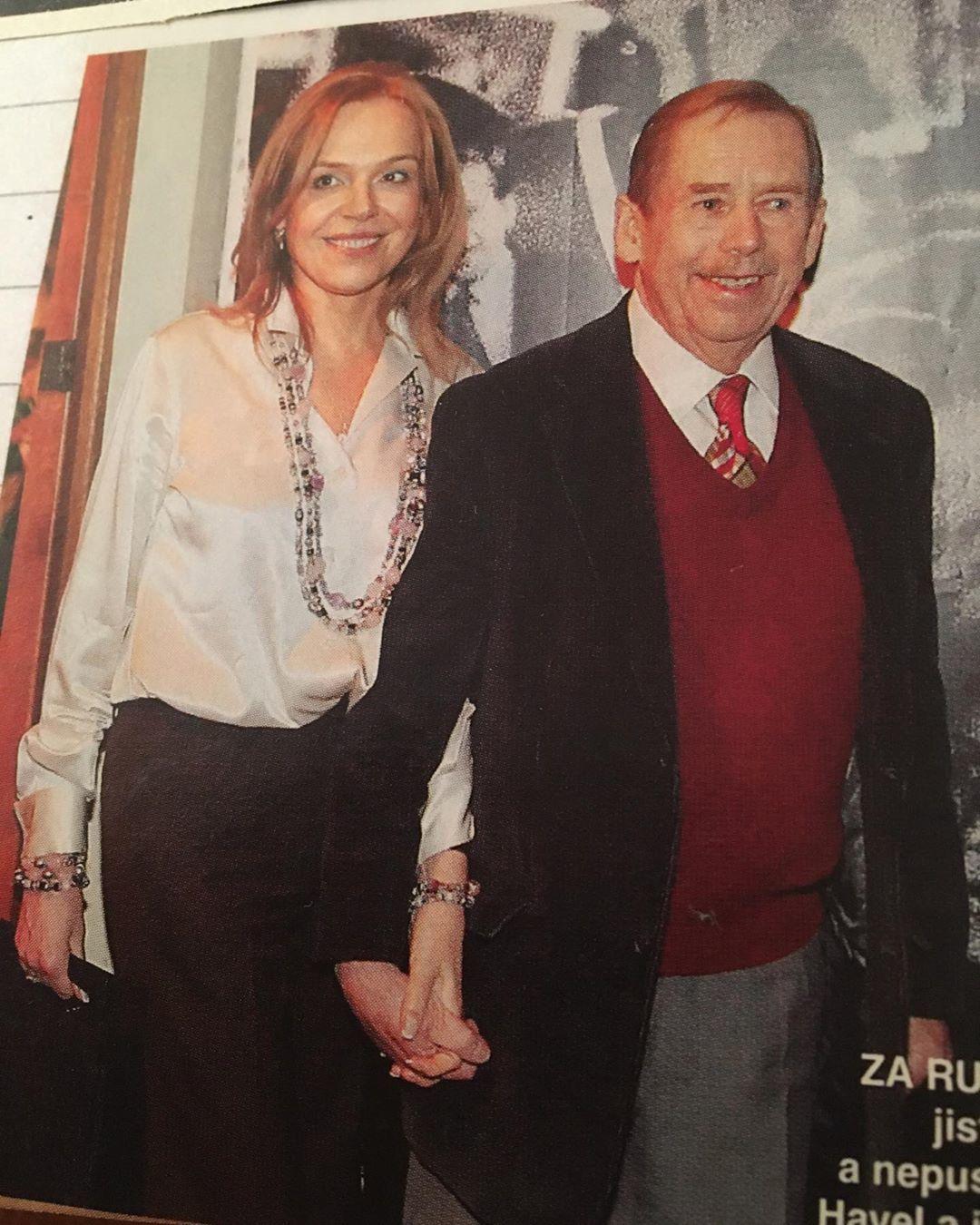 Dagmar Havlová sdílela fotku s Václavem