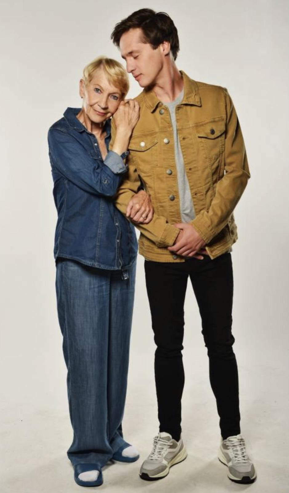 Daniela se svým seriálovým vnukem Janem Nedbalem.