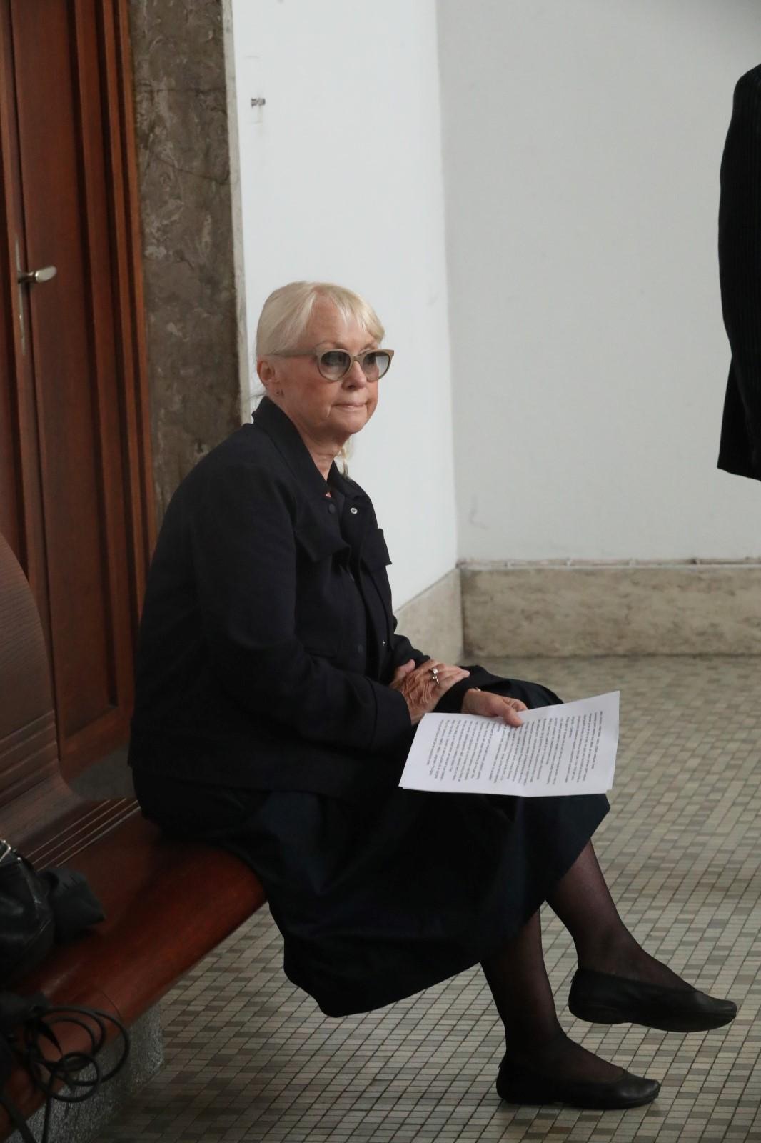 Pohřeb Jana Skopečka: Kateřina Macháčková