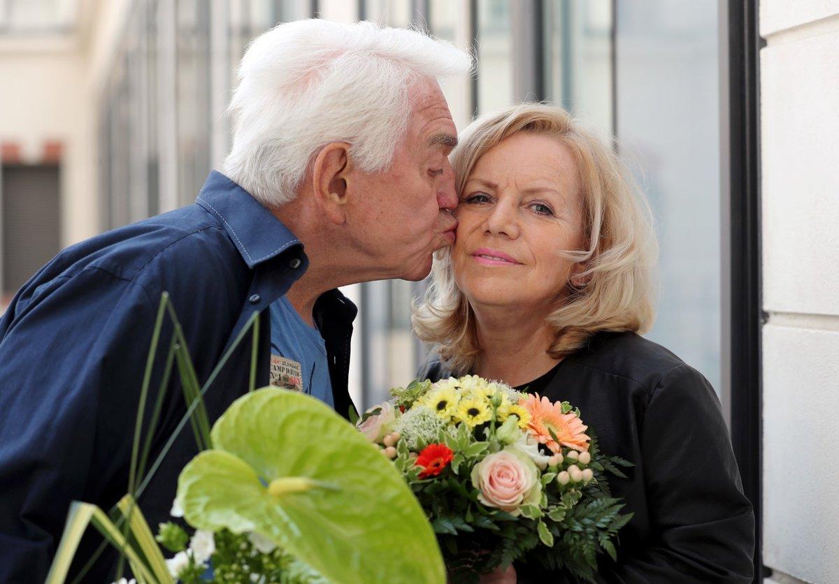 Jiří Krampol s manželkou Hankou pár dní před její smrtí