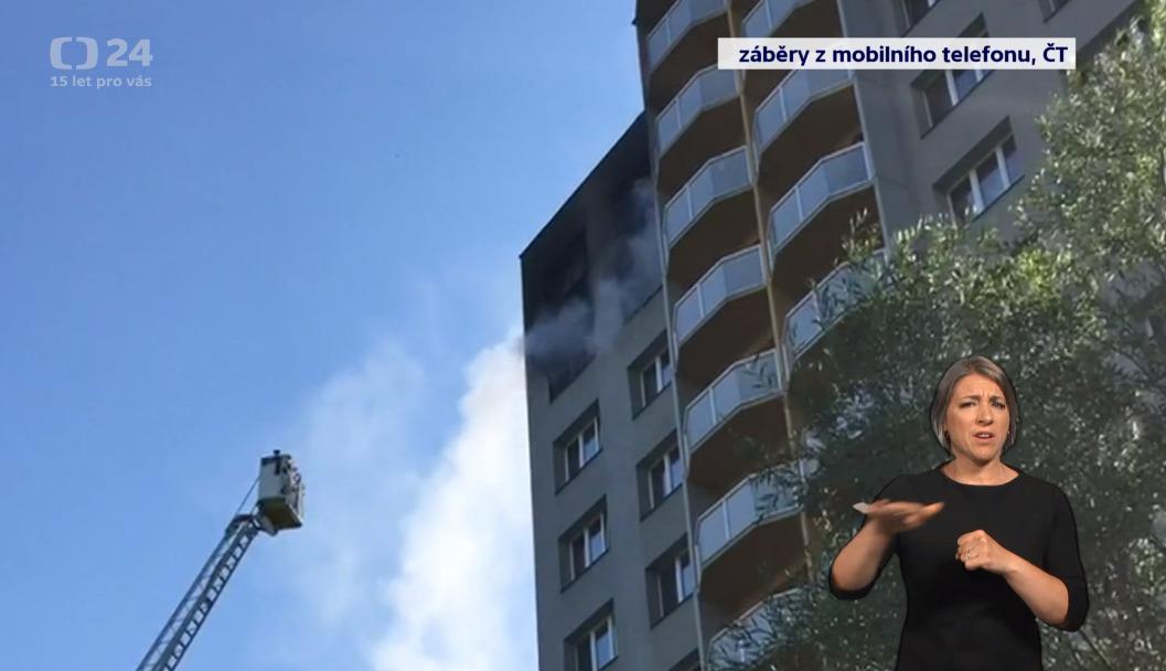 Požár v Bohumíně: Lidé před plameny skákali z oken