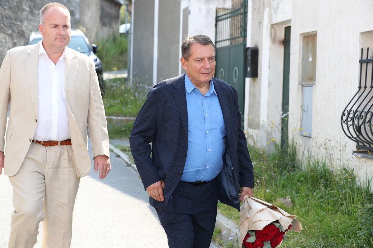 Jiří Paroubek na rozloučení s Hanou Krampolovou