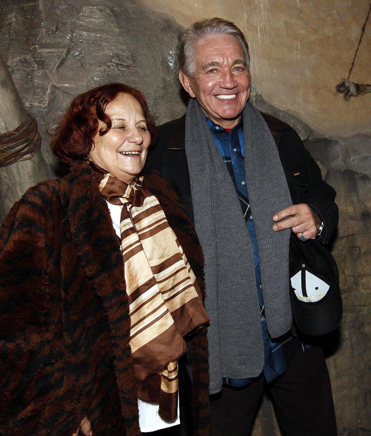 Jiří Krampol s tchyní Marií