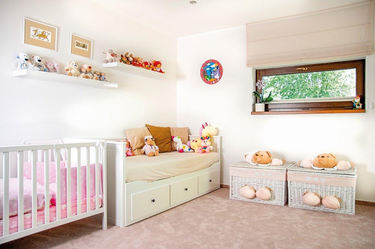 Dětský pokojík se bude ještě vyvíjet podle potřeb teprve dvouleté Veroniky.