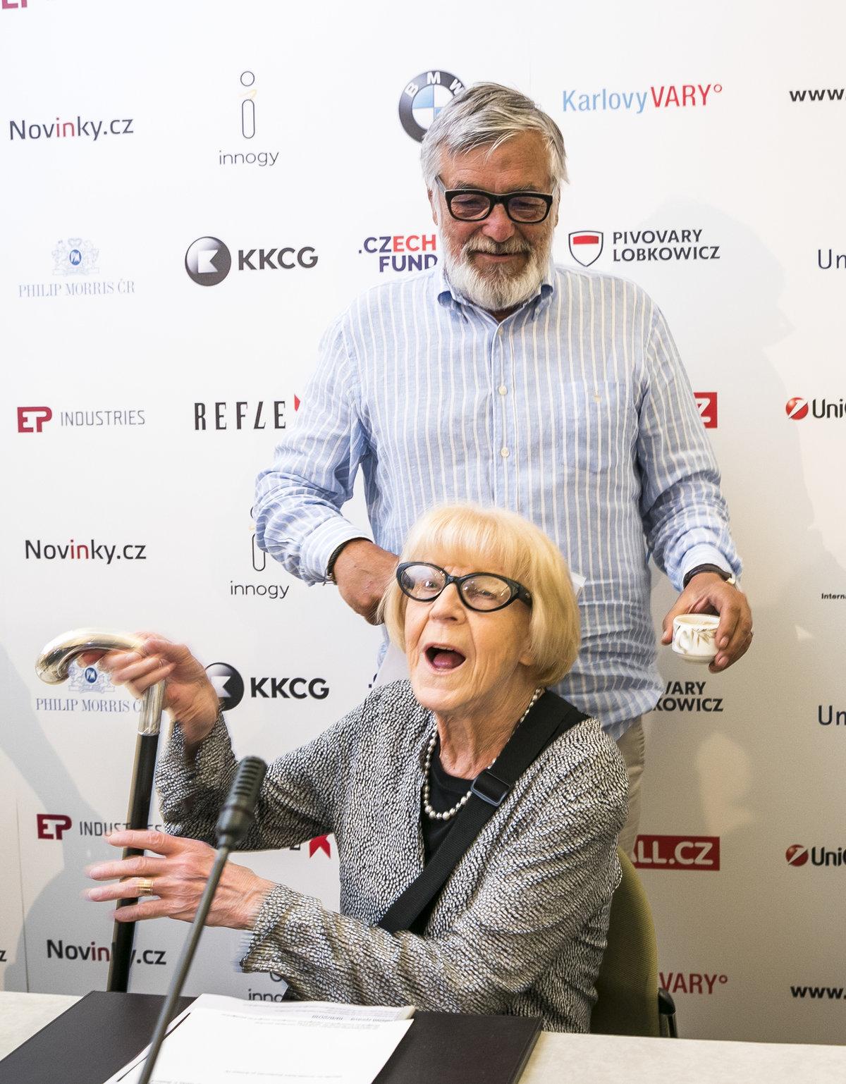 Jiří Bartoška a Eva Zaoralová