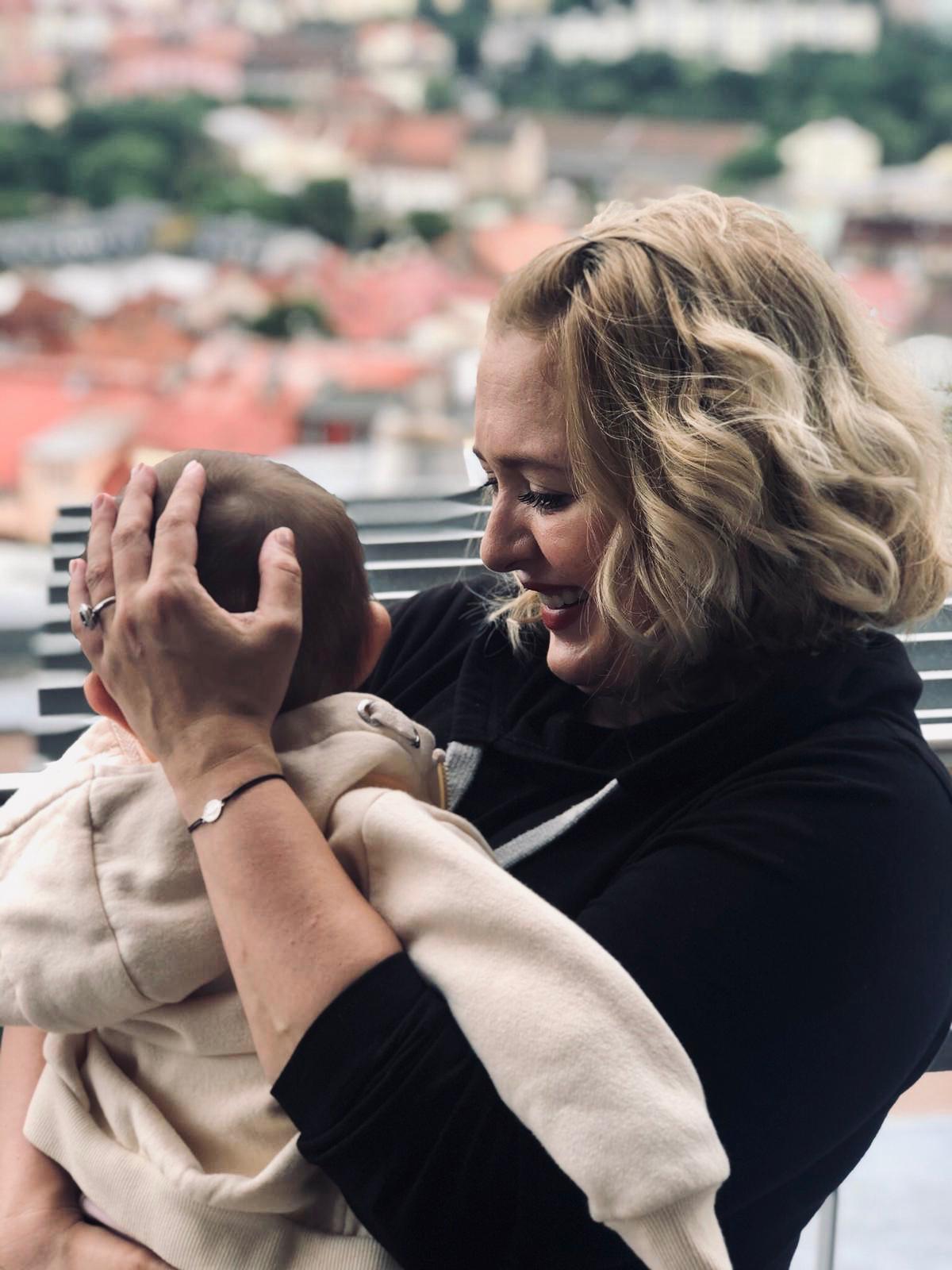 Miluše Bittnerová s dcerkou