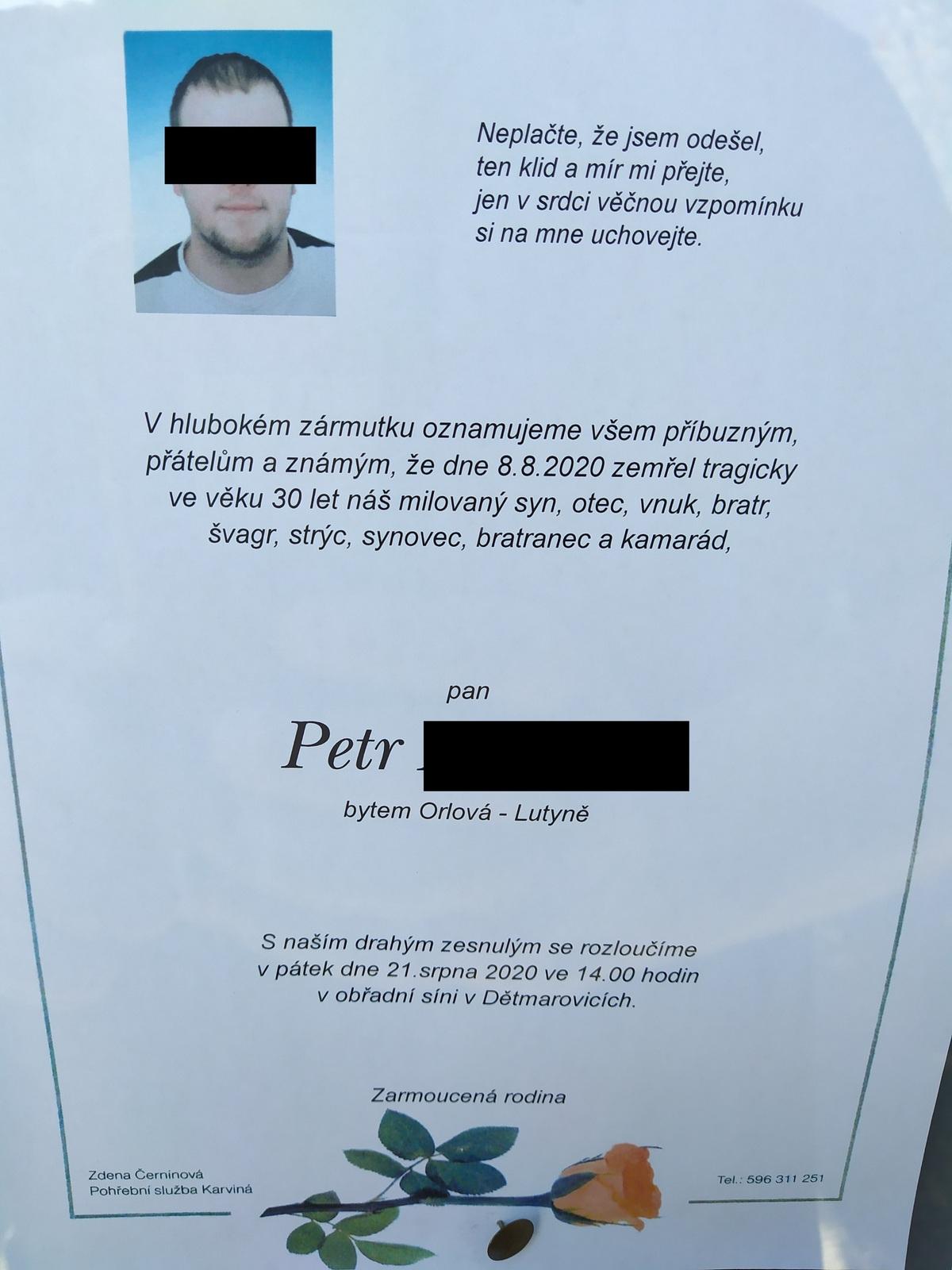 Pohřeb Petra P. (†30)