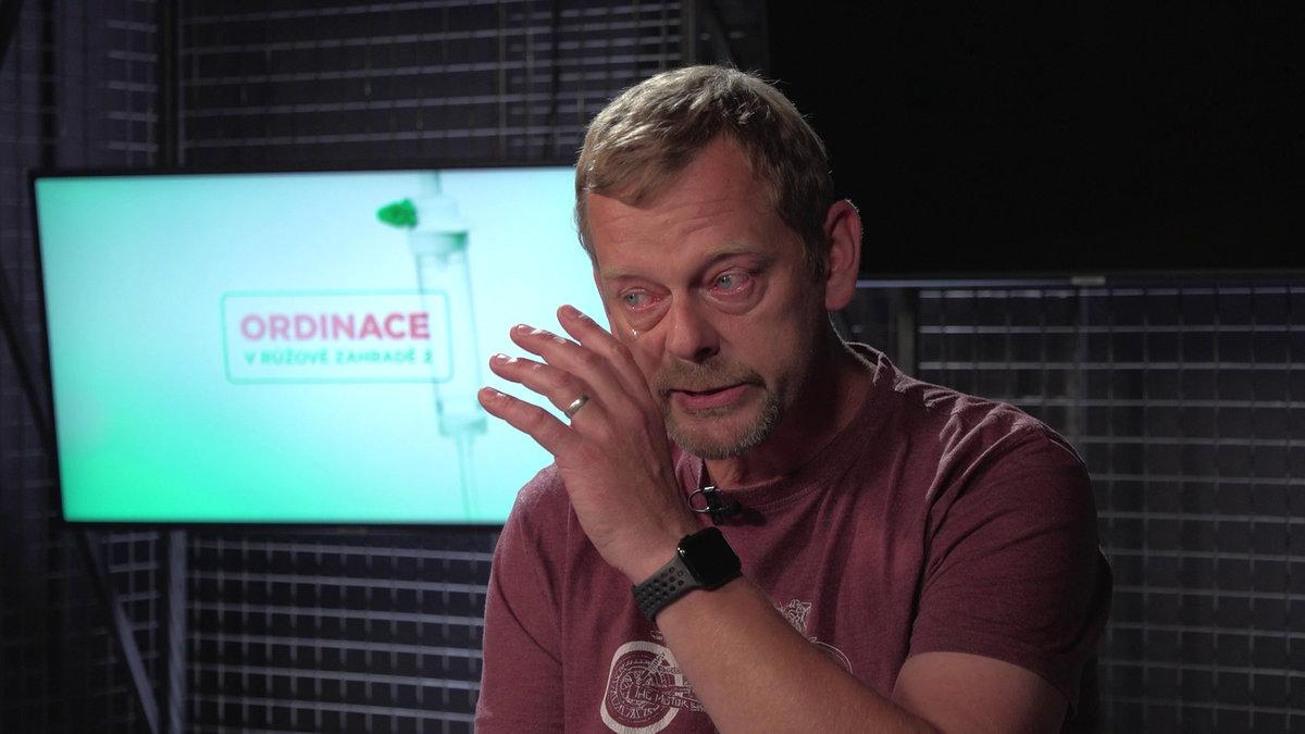 Martin Stránský se při natáčení Ordinace rozplakal.
