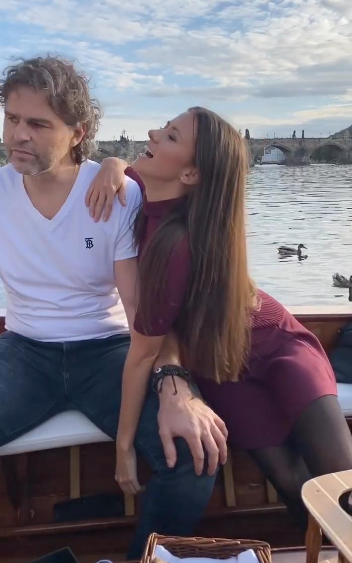 Jágr a jeho nová láska Dominika řádili na lodi.