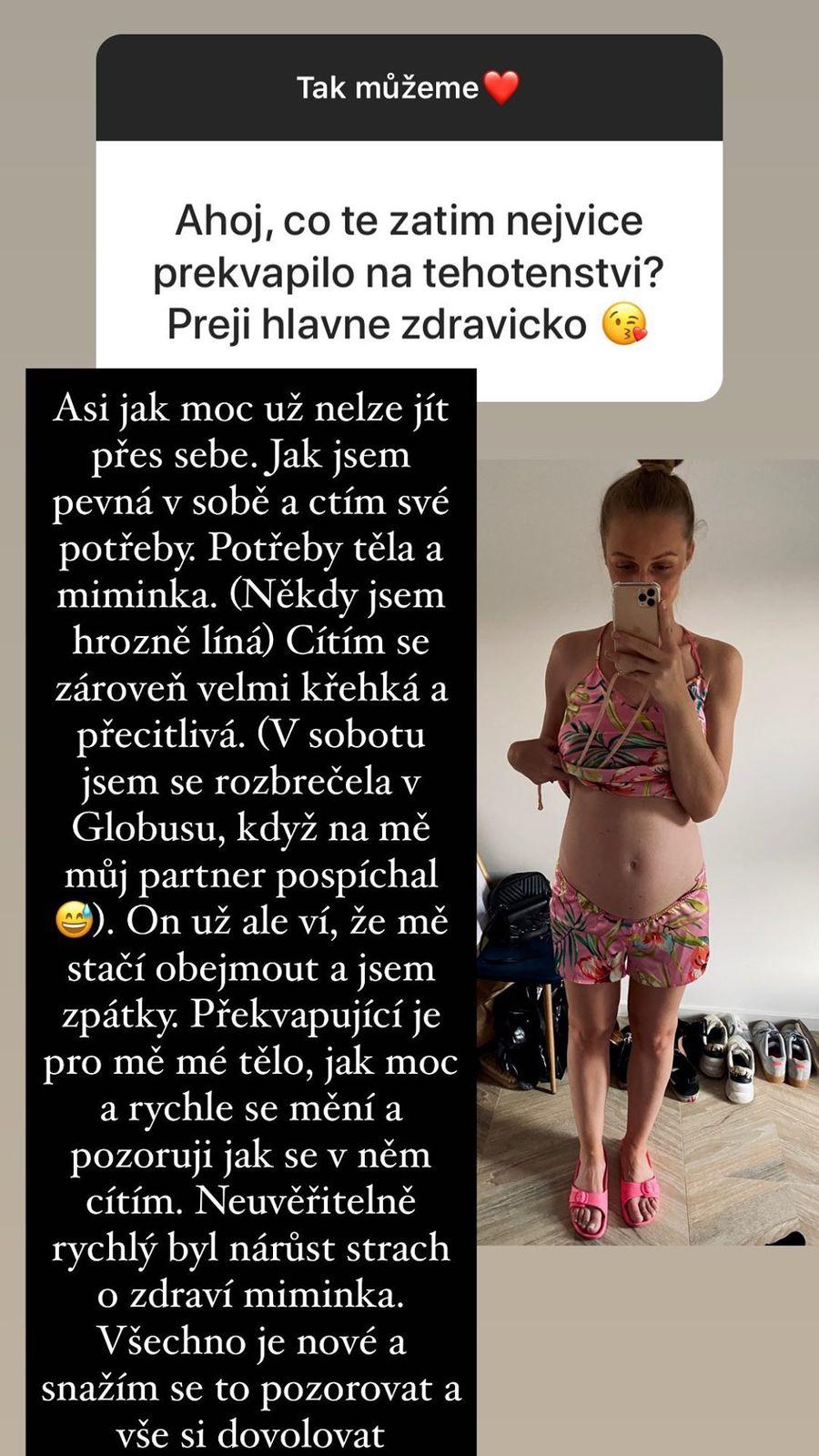 Veronika Kašáková se rozepsala o svém těhotenství