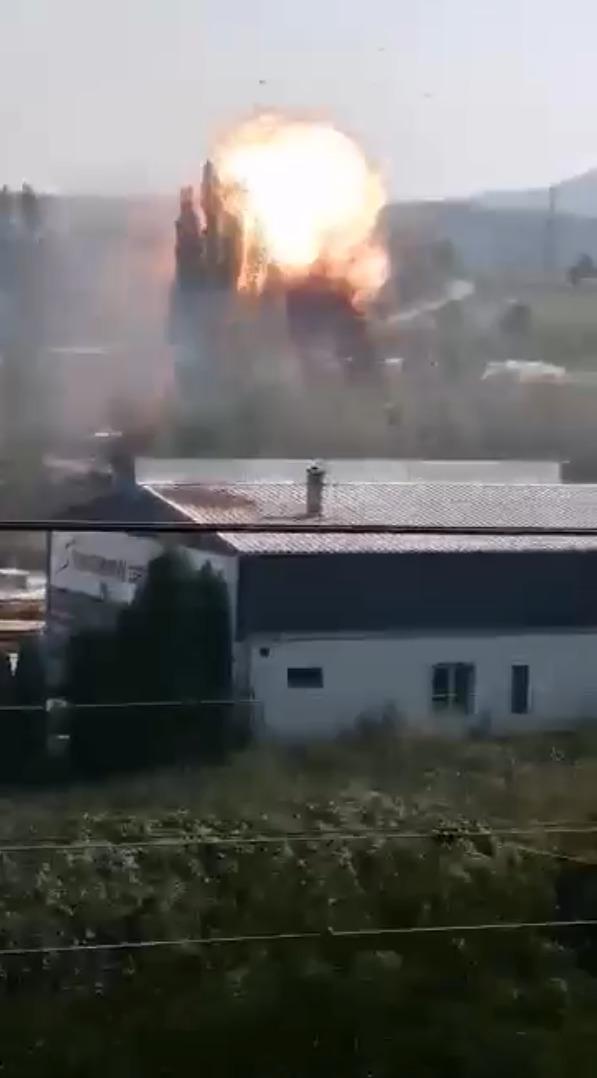 Výbuch v Bílině.