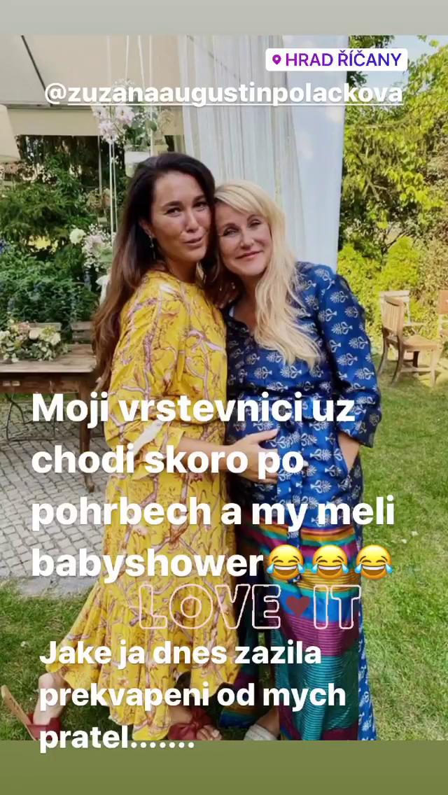 """Vendula Pizingerová si dva roky před padesátkou dopřála """"baby shower"""""""