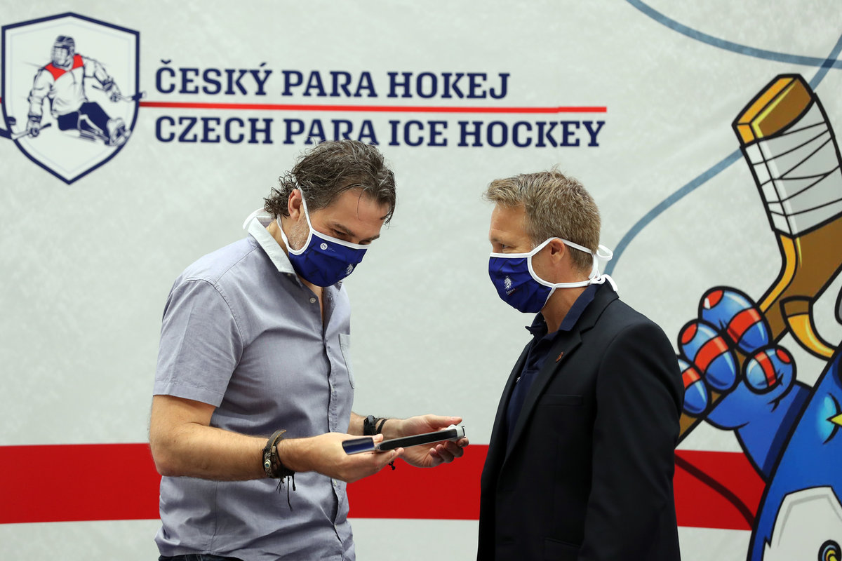 Legendární hokejista Jaromír Jágr se stal ambasoderem českého parahokeje
