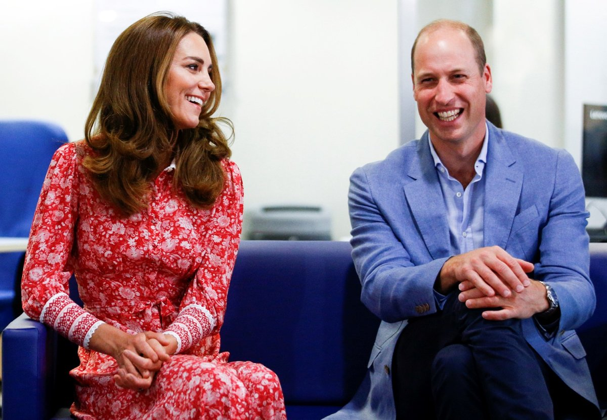 Kate Middleton a princ William v London Bridge Jobcentre