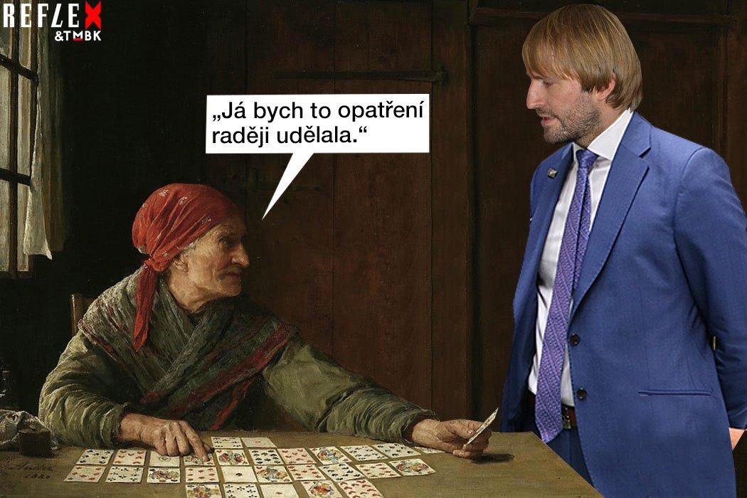 Satirické koláže na počínání Adama Vojtěcha jako ministra zdravotnictví od TMBK