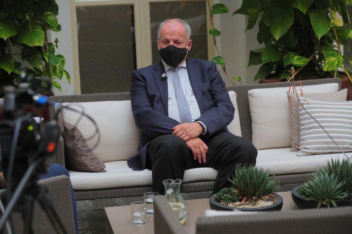 Roman Prymula při rozhovoru pro Blesk Zprávy.