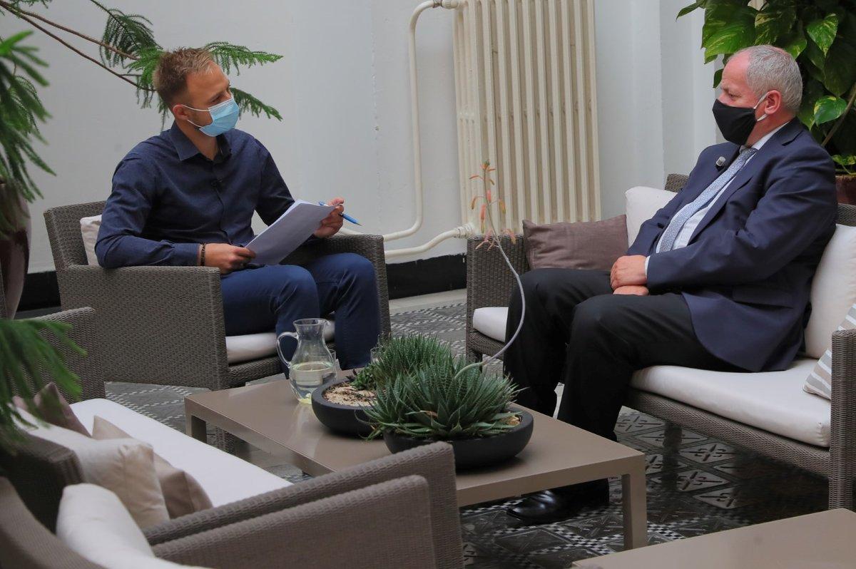Ministr zdravotnictví Roman Prymula při rozhovoru pro Blesk Zprávy.