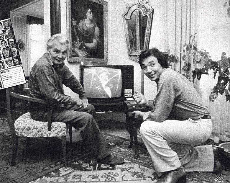 Karel Gott se svým otcem.