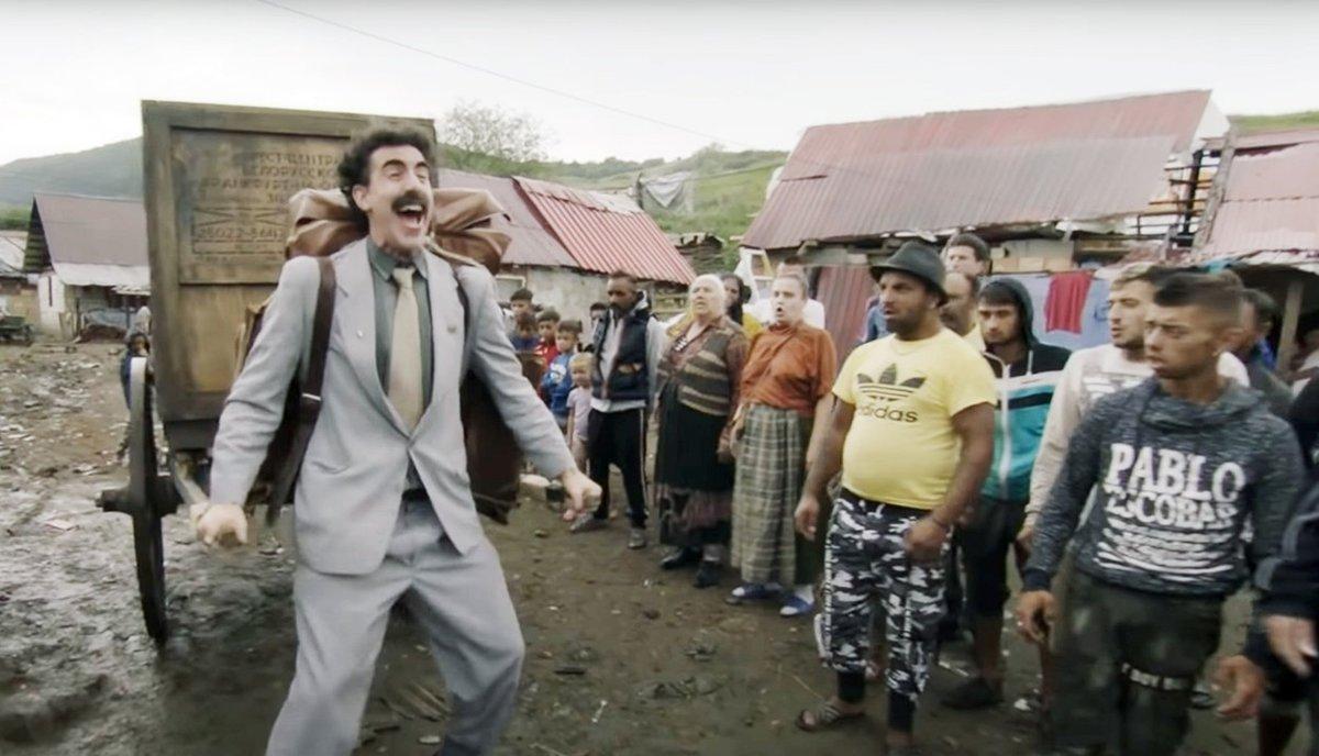 Sacha Baron Cohen jako Borat.