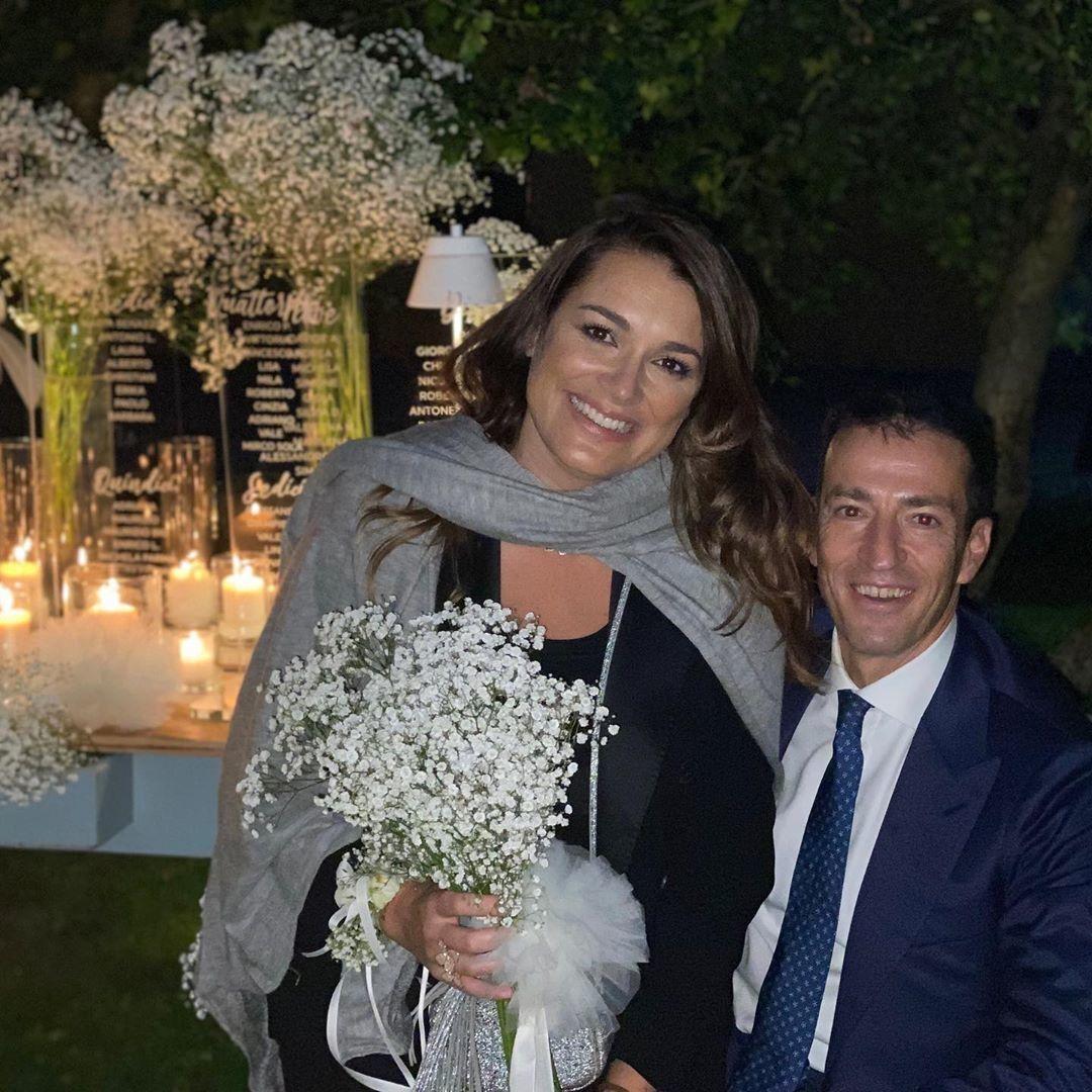 Alena Šeredová a Alessandro Nasi na svatbě: Alena chytila kytici