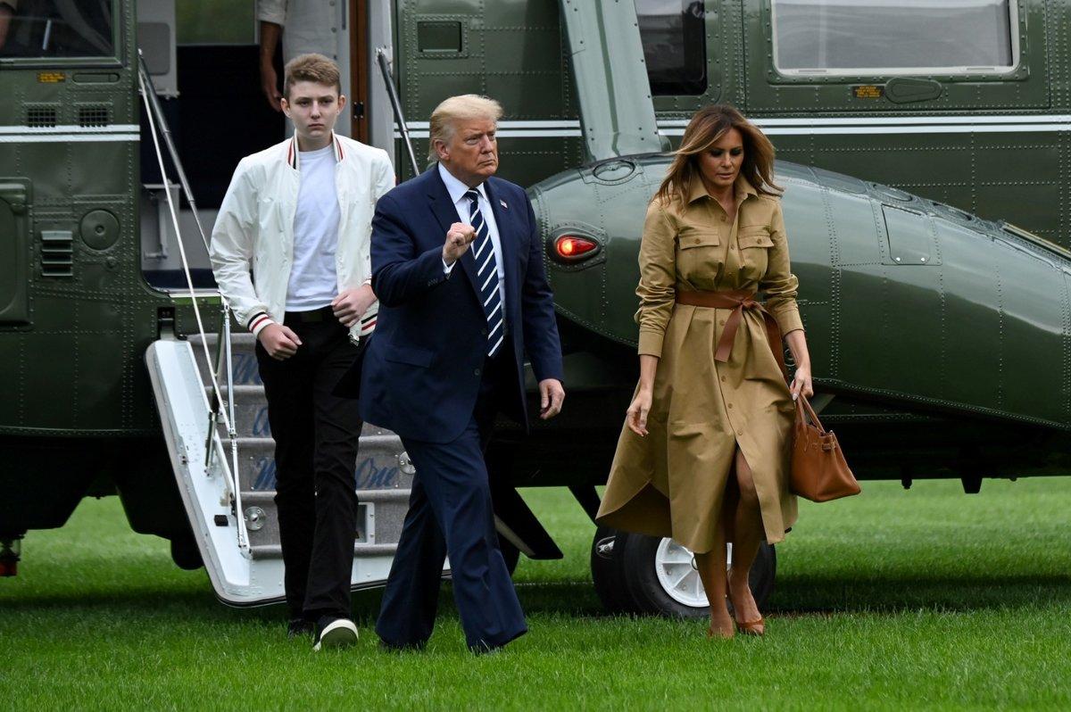 Prezidentský pár se synem Barronem.