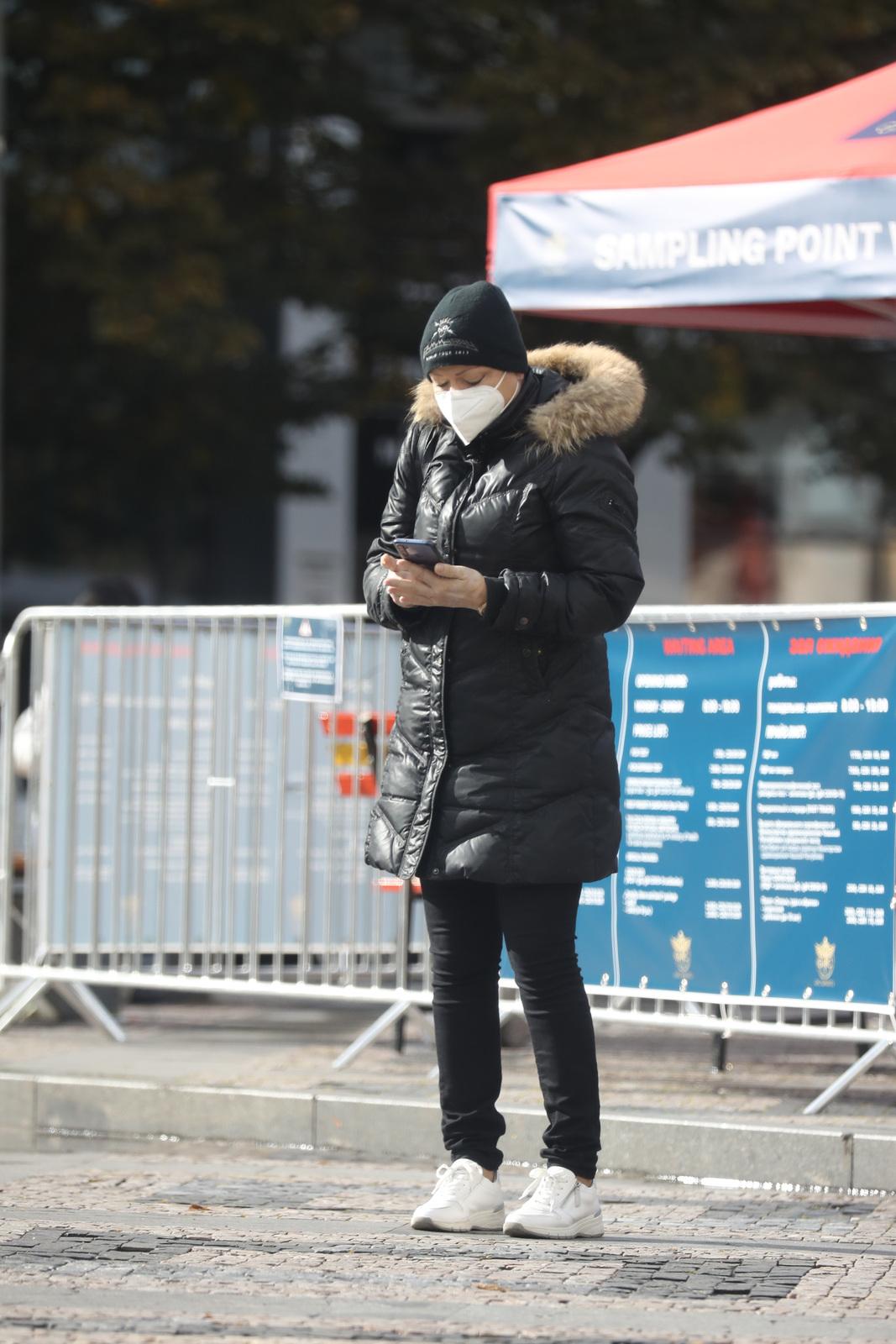 Dominika Gottová se na Václavském náměstí nechala testovat na covid.