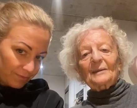 Agáta s milovanou babičkou Olgou
