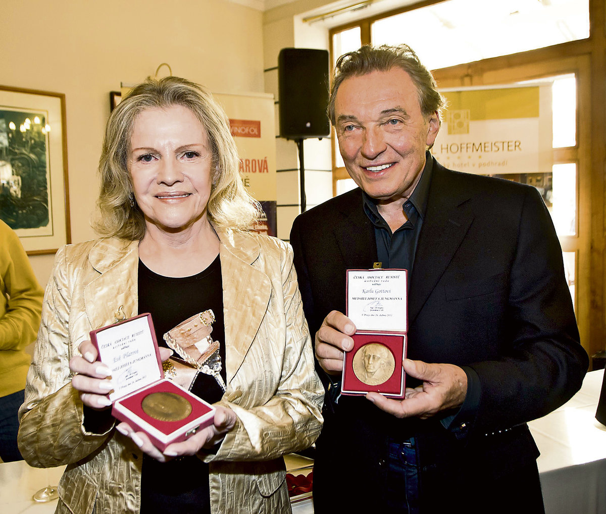 Eva Pilarová a Karel Gott