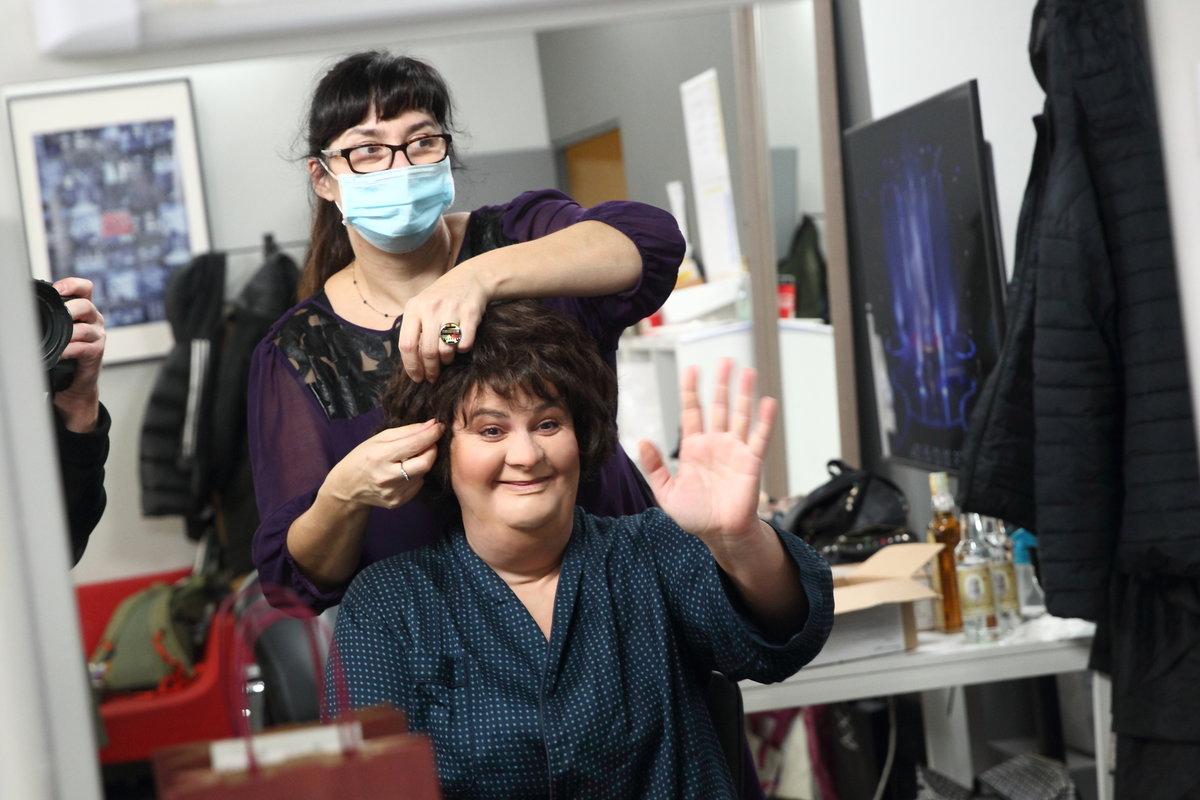 Jitka Čvančarová v maskérně