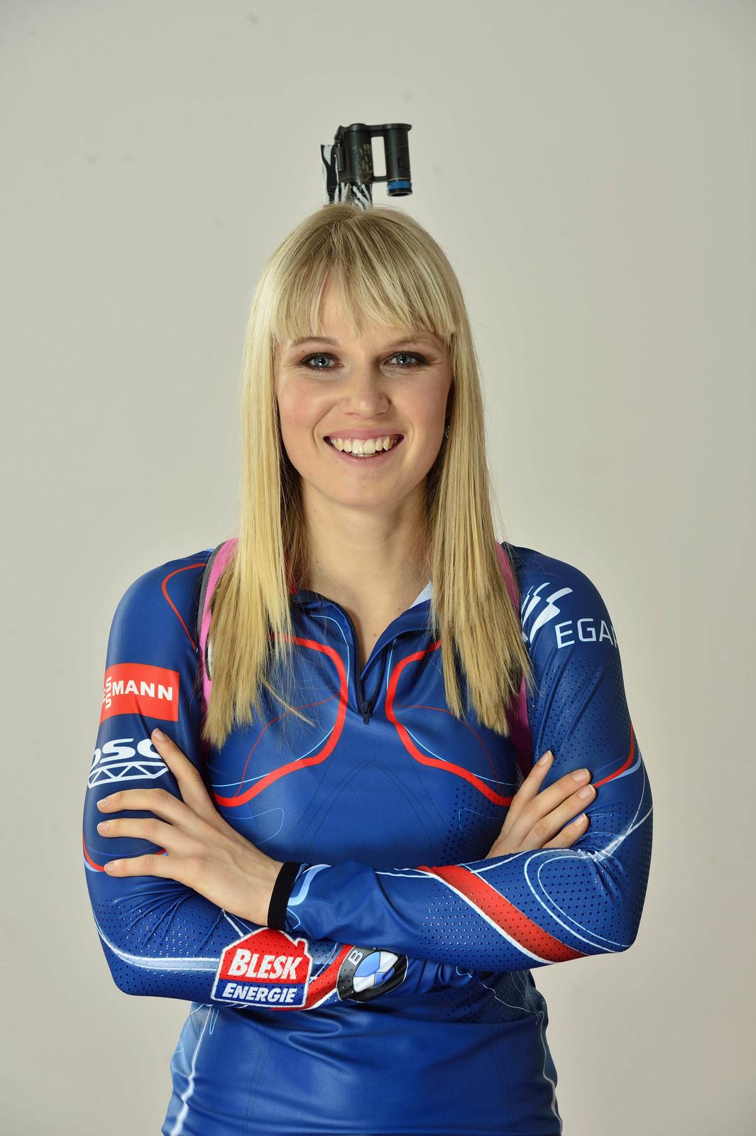 Šarmantní česká biatlonistka Eva Puskarčíková