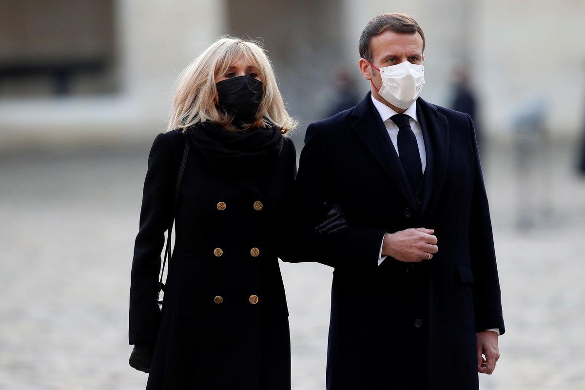 Francouzský prezident Emmanuel Macron s manželkou Brigitte.