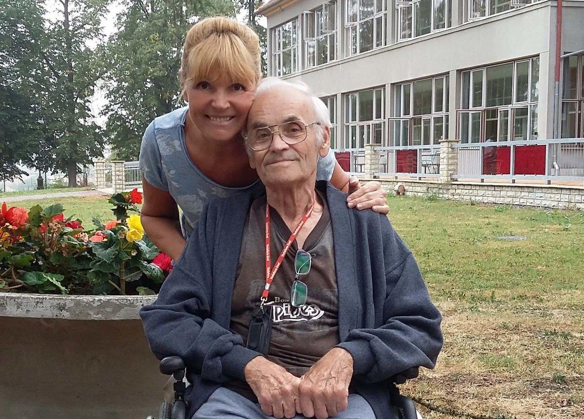 Věra Martinová s tatínkem