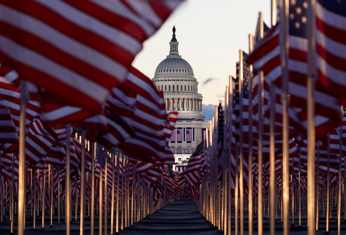 Přípravy na inauguraci amerického prezidenta Joe Bidena (20. 1. 2021)