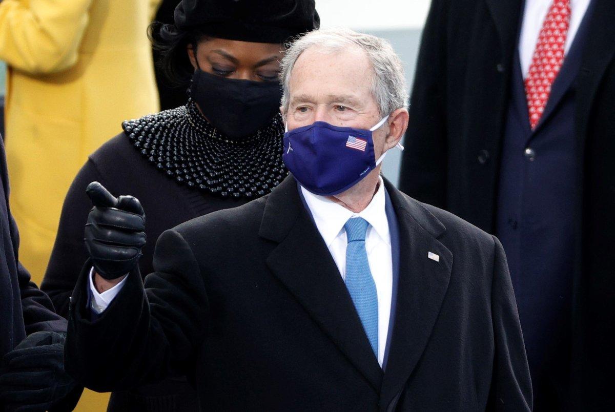 Bývalý prezident USA George W. Bush na inauguraci 46. prezidenta USA Joe Bidena (20. 1. 2021)