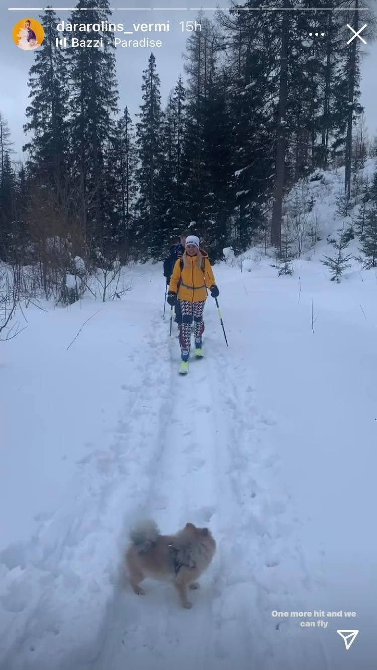 Dara Rolins vyrazila s partou na lyže do Vysokých Tater