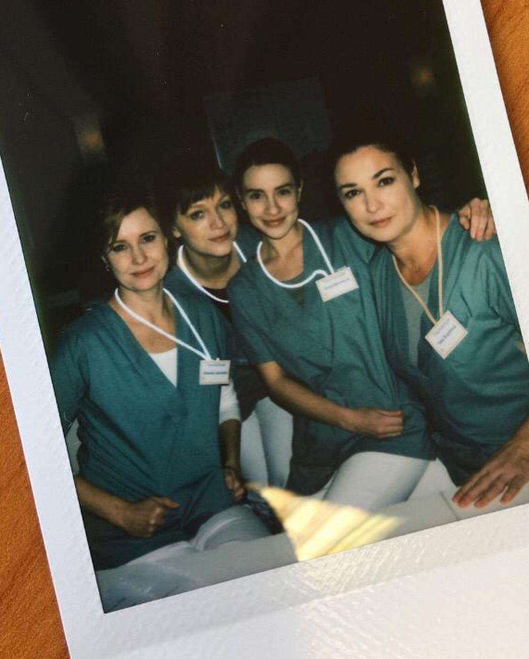 Ester Geislerová při natáčení seriálu Anatomie života