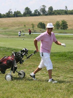Jiří Korn je už roky vášnivým hráčem golfu.