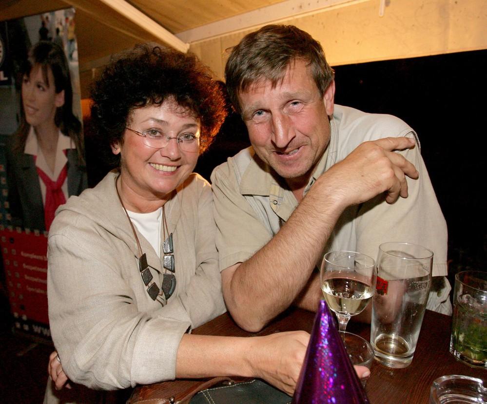 Jana Boušková (na snímku s Václavem Vydrou).
