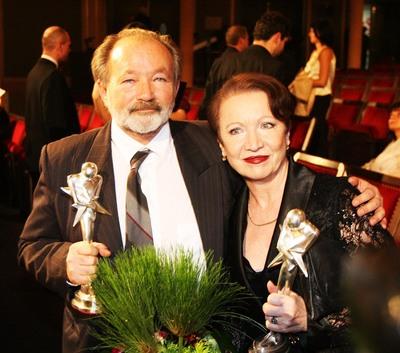 Rudolf Hrušínský a Hana Maciuchová.