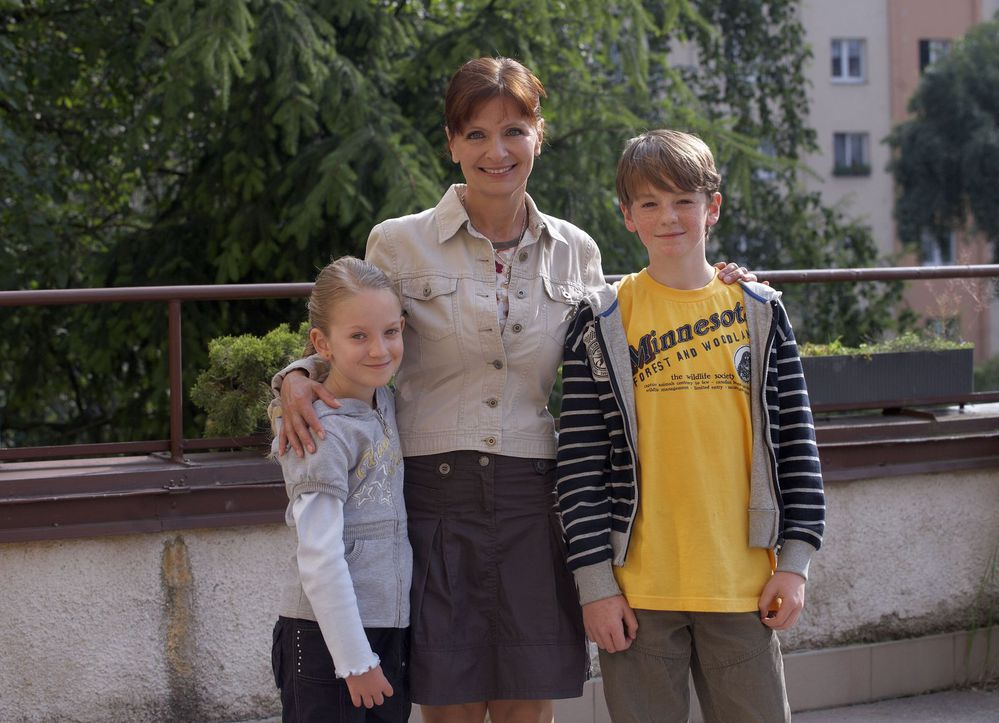 Jako Anička Lišková se svými seriálovými dětmi.