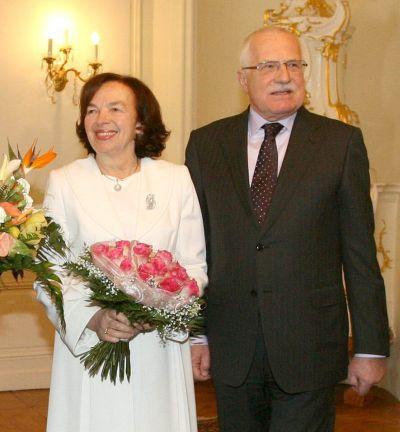 Václav a Livia Klausovi.