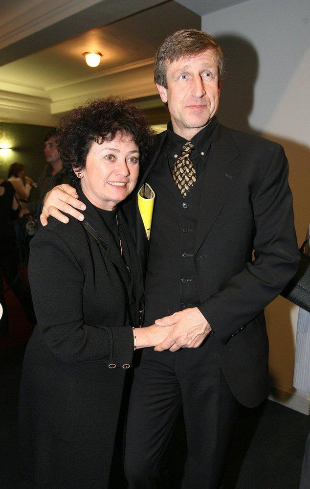 S manželem Václavem Vydrou.